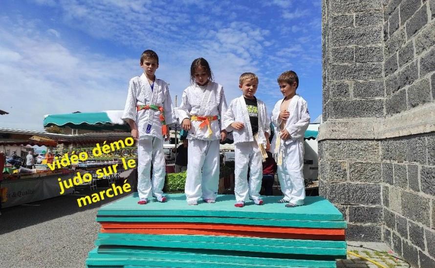 démonstration de judo sur le marché de St Martin en Haut