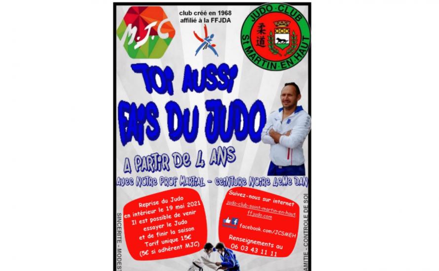 reprise des cours de judo le 19/05/21